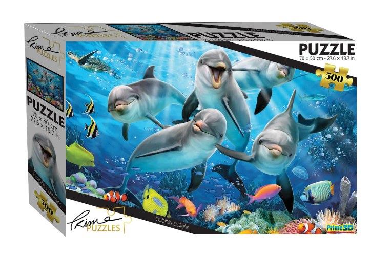פאזל 500 דולפין בים