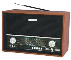 רדיו רטרו עם שלט PX2002BT צבע עץ עם שחור