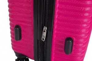 סט 3 מזוודות איכותיות SWISS  - צבע ורוד