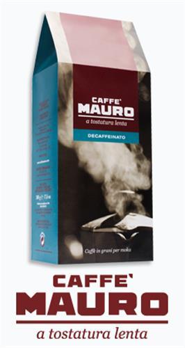 קפה מאורו נטול - 500 גרם פולים Mauro Decaffeinato