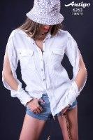 חולצה WHITE OPEN SLEEVE ANTIGO