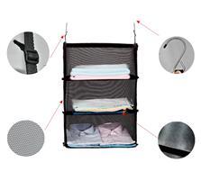 3 מדפים נתלים המתקפלים היישר למזוודה