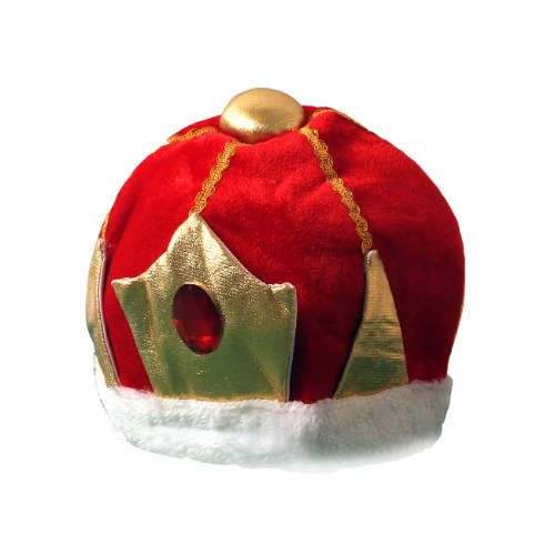 כובע מלך בד אדום ילדים