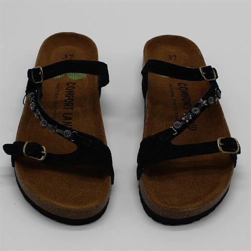 נעלי נוחות רצועת שרשרת שחור