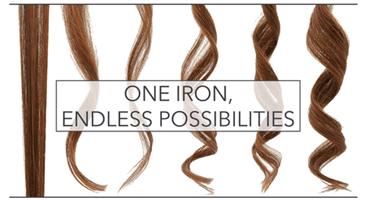 מחליק שיער מקצועי 2 ב-1 לסלסול והחלקה