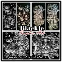 חולצה שחורה לקיץ הדפס גראפי קומבינשין השלושה