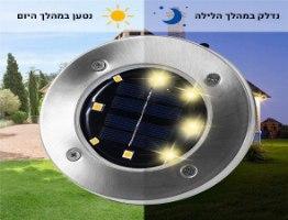תאורת לד שקועה סולארית לגינה