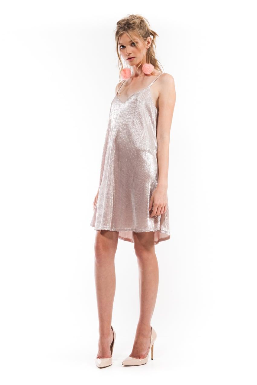 שמלת סול ורוד פליסה