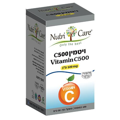 ויטמין C-500, מכיל 100 כמוסות, נוטרי קר