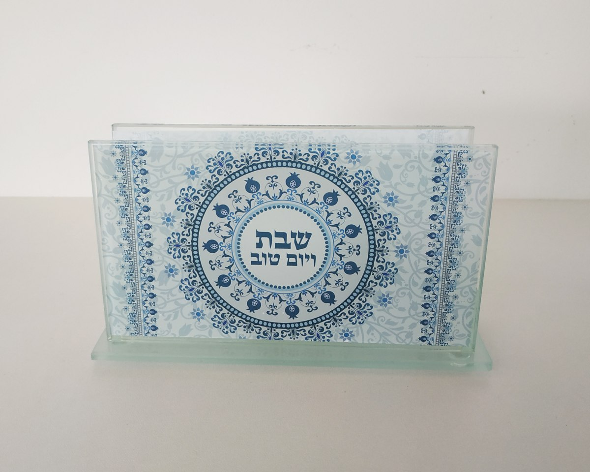 מעמד לקופסת גפרורים - דגם מנדלה כחול