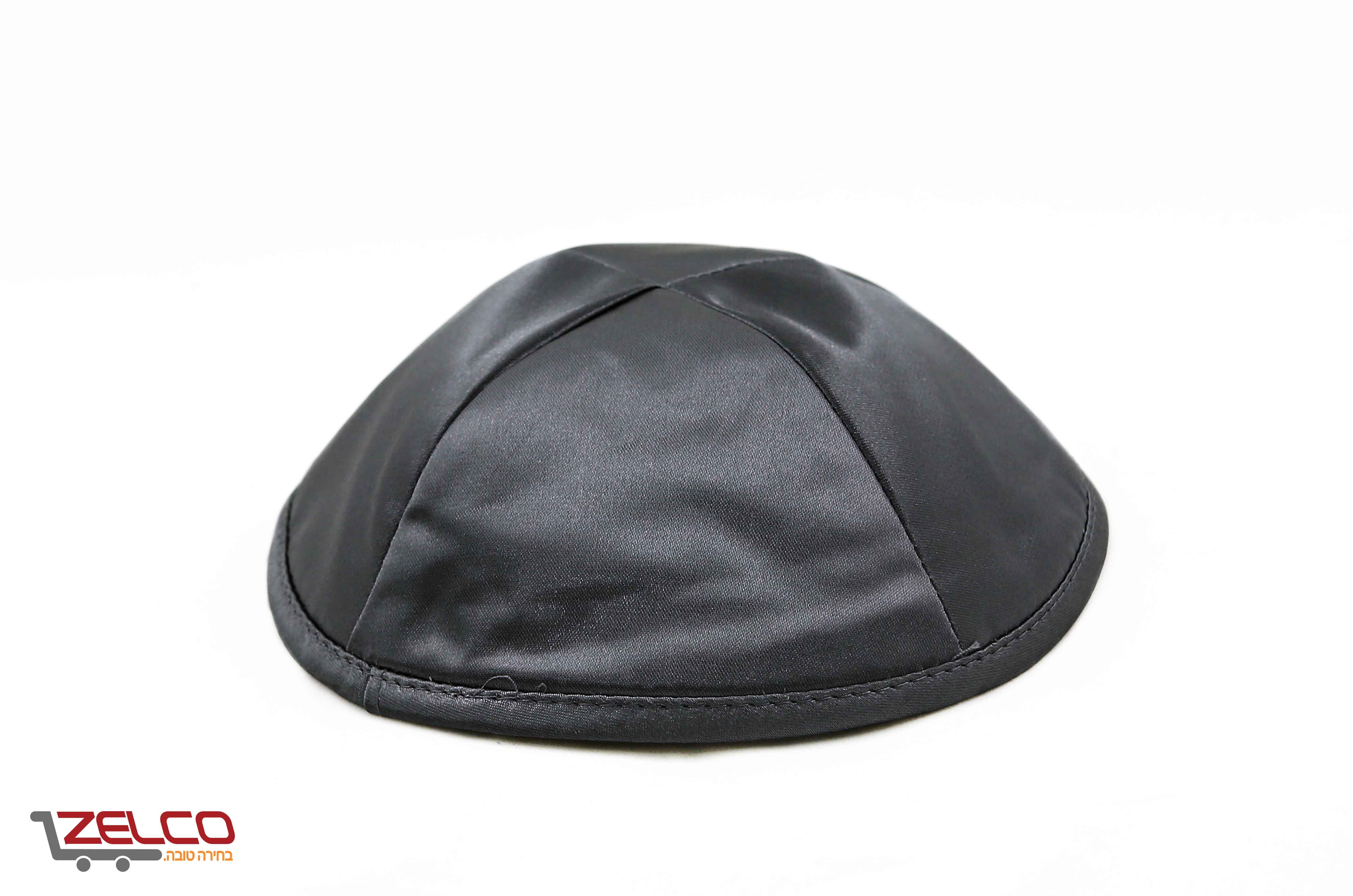 כיפה סאטן צבע שחור