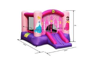 9201P - מתקן קפיצה מגלשת נסיכות וחישוק הפי הופ-Princess Slide And Hoop Bouncer Happy Hop -קפיץ קפוץ
