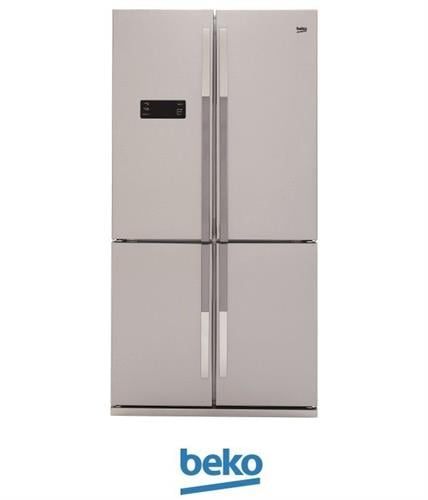 beko מקרר 4 דלתות דגם: GNE114611X צבע נירוסטה מתצוגה !