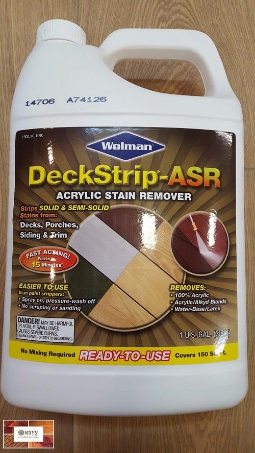 """מסיר צבע לעץ DeckStrip, תוצרת ארה""""ב."""