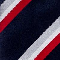 עניבה קלאסית פסים כחול אפור אדום