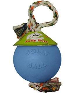 כדור ג'ולי חזק + חבל לכלב Jolly Pets  Ball