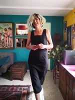 שמלת כפתורים שחורה מדליקה לקיץ מידה M/L