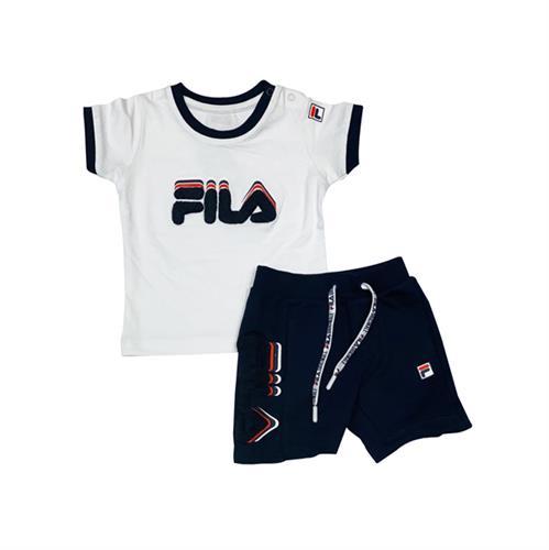 חליפת ספורט בנים FILA - לוגו מבד - מידות 6 עד 24 חודשים