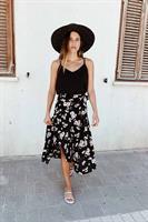 חצאית מעטפת פרח וינטג'