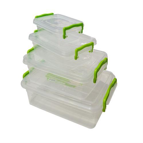 סט 4 קופסאות פלסטיק מרובע
