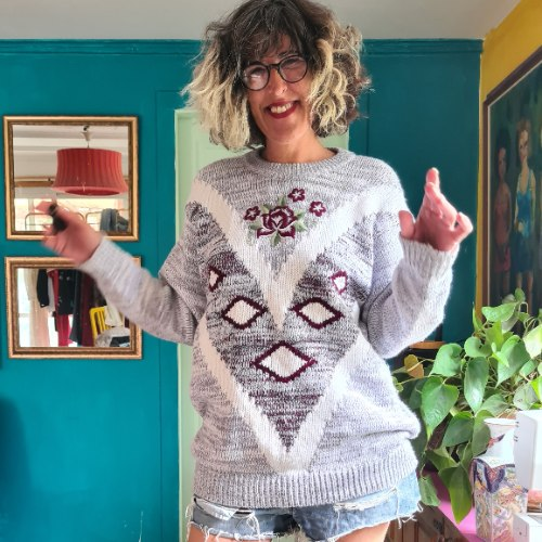 סוודר אוברסייז רך וכיפי XL