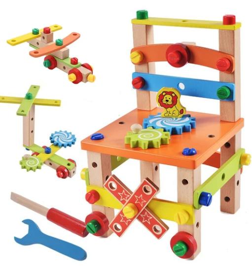כיסא לבנייה - צעצוע מונטסורי