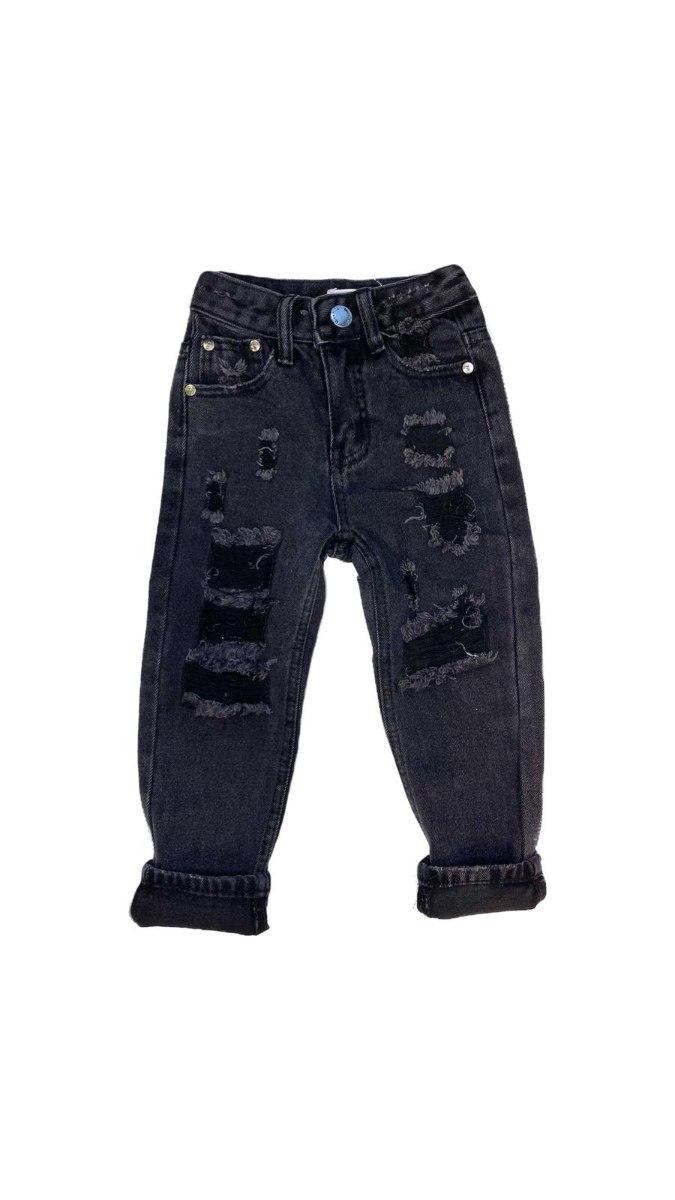 ג'ינס שחור קרעים (2-18)