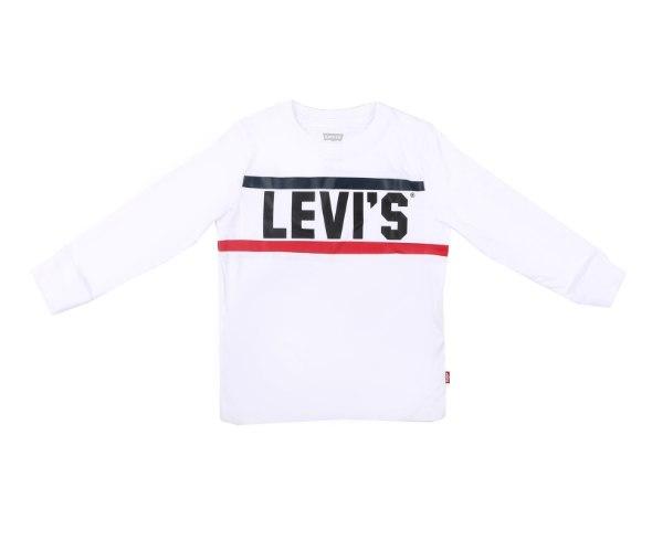 חולצת LEVIS לבנה פסים - מידות שנה ועד 13 שנים