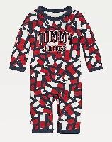Tommy Hilfiger אוברול לוגואים כחול מידות NB- 12 חודשים