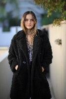 מעיל טדי שחור