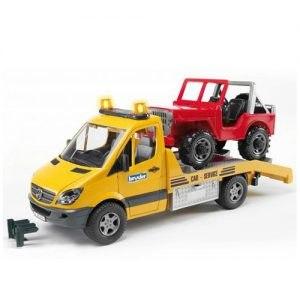 משאית מרצדס גורר + גיפ bruder