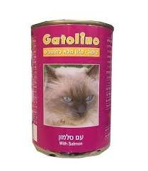 גטולינו סלמון 400 גרם שימורי מזון רטוב לחתולים - GATOLINO SALMON 400G