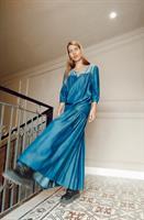 שמלת מקסי DENIM + מסכת DENIM מתנה