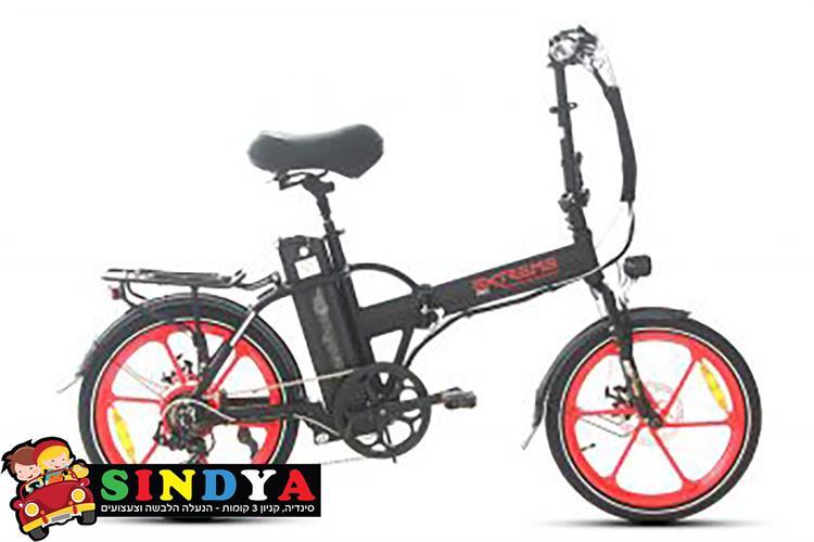 אופניים חשמליים 48V EXTREME PRO 16AH שחור/אדום