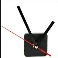 """מנגנון לשעון קיר הברגה 2 ס""""מ סט כולל מחוגים"""