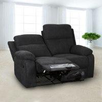 ספה 2 מושבים סיאסטה בד שחור