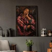 אישה עם חלוק (סדרת נשים אפריקאיות)