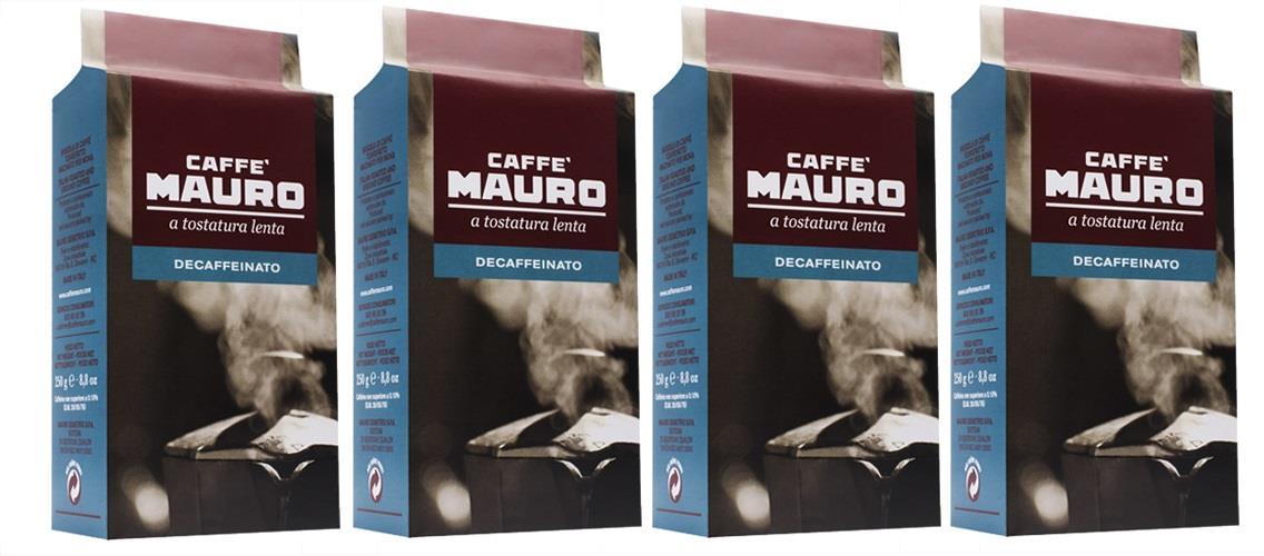 4 אריזות קפה מאורו נטול - 250 גרם טחון בואקום