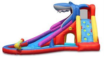 מתקן קפיצה ומים מועדון הכריש הפי הופ - 9417 - Shark Club Happy Hop מגיע עם סולם טיפוס