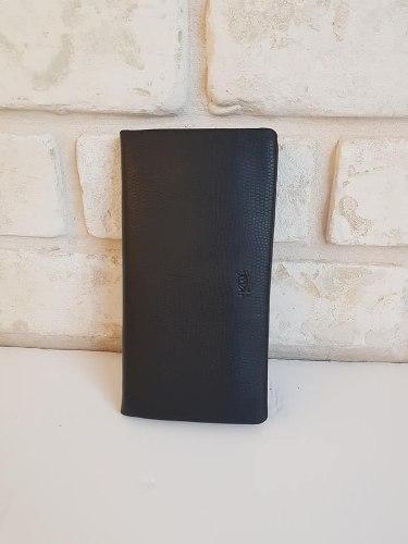 ארנק עור שחור גדול  סגירת רוכסן 4081