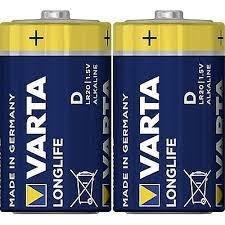 סוללות אלקליין VARTA D כמות 20 יחידות 10 אריזות