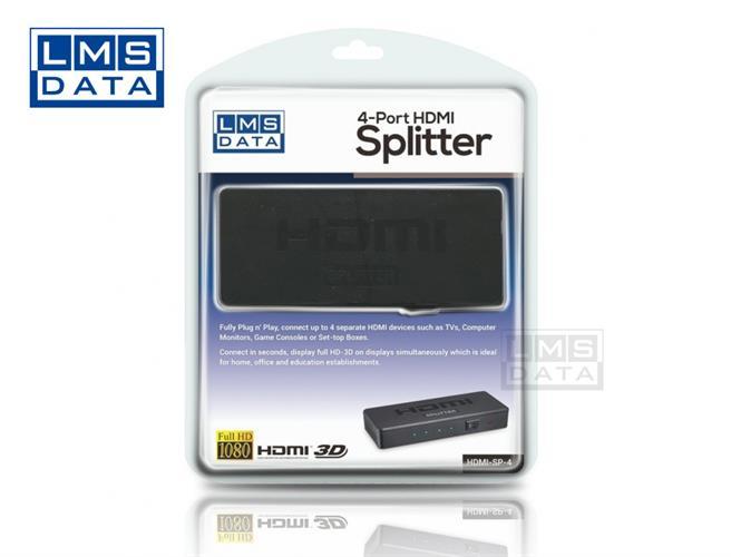 מפצל HDMI ל4 יציאות Splitter