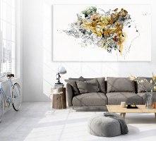 תמונה גדולה מודרנית בסלון