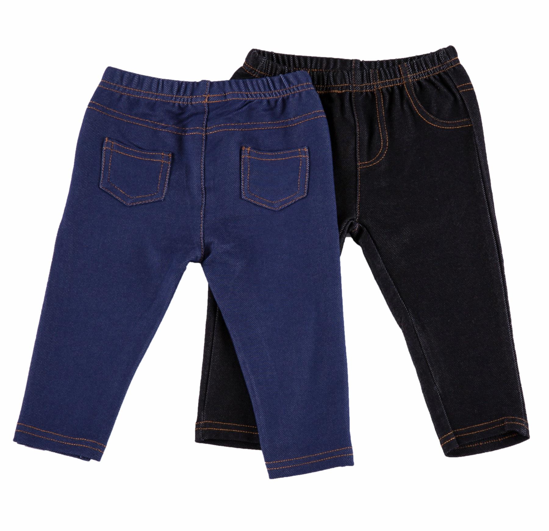 זוכ מכנסיים דמוי ג'ינס פלנל עם כיסים