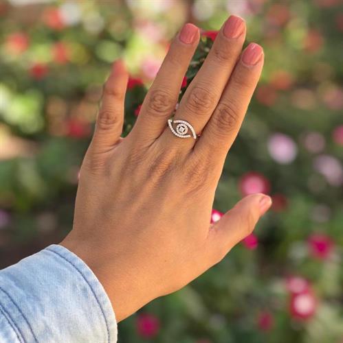 טבעת עין כסף 925