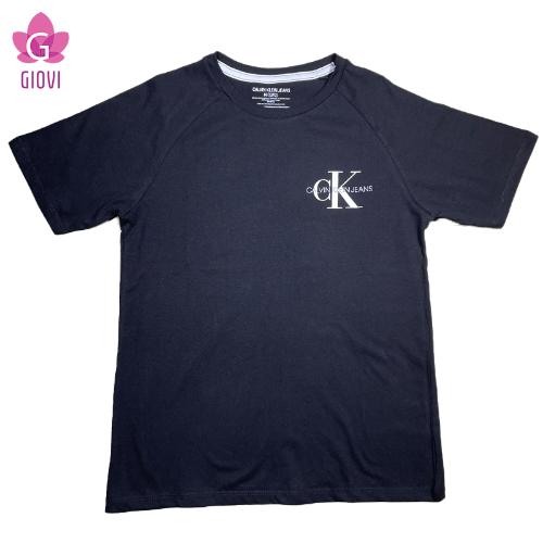 טישרט CK לוגו מקדימה שחורה