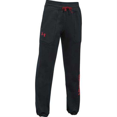 מכנסיי נוער אנדר ארמור  1299350-001 Under Armour Fleece Branded Joggers Boys' Pants