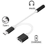 מפצל Gold Touch USB C TO 3.5MM Audio JACK Cabel+Charge