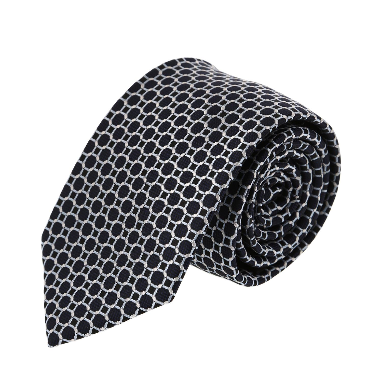 עניבה עיגולים שחור לבן