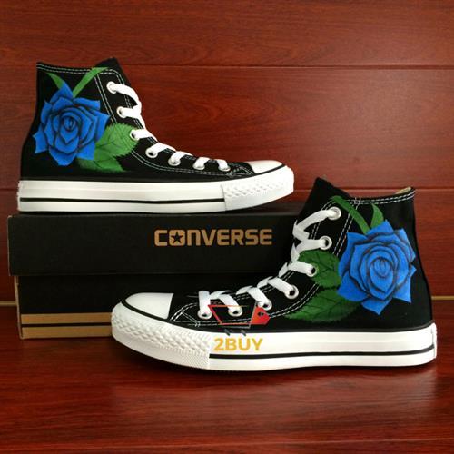 נעלי converse design all star chuck taylor יוניסקס בעיצוב בלעדי blue rose במידות 35-49
